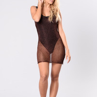 Krabi Cover Up Dress - Copper