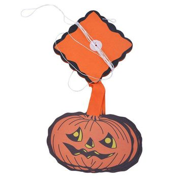 Hoomall Halloween Props Paper Hanging Tag Pumpkin Pendants Hallowmas Accessories Door Window Party Decoration Kids Toys Gift DIY