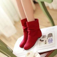 Womens Charming Classic Foldable Ankle Boots