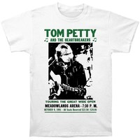 Tom Petty Men's  The Great Wide Open Slim Fit T-shirt White