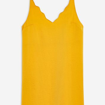 Scallop Mini Slip Dress