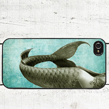 Blue Mermaid Cell Phone Case for iPhone 44s and iPhone 5 by Arete