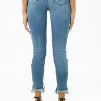 Super Skinny Step-Hem Ankle Jeans