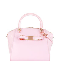 Leather tote bag - Dusky Pink | Bags | Ted Baker UK