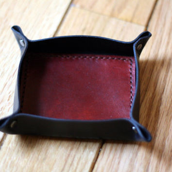 Leather Valet Catch All Tray