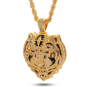 Jungl Julz 18K Gold Bengal Tiger Necklace