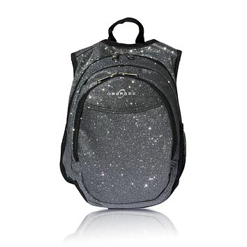 Obersee Pre-School Sparkle Backpack with Integrated Snack Cooler - Grey