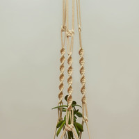 "Cotton Macrame Plant Hanger ~ Ceiling Hanging Basket 40"" ~ Strong Hanging Planter ~ Wall Flower Pot Hanging ~ Rope Planter ~ Gift for Wife"