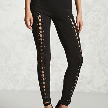 Lace-Up Front Leggings