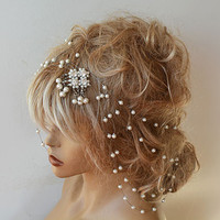 Wedding Headband, Bridal Pearl Headband, Wedding Hair Accessories, Bridal Hair Accessories, Pearl Headband, Hair Accessories