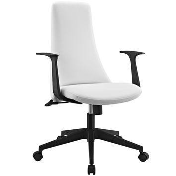 Fount Mid Back Faux Leather Office Chair