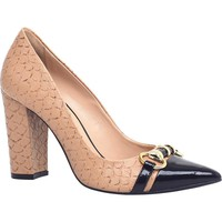Scarpin Leather Block Heel - Cecconello