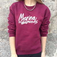 Marina And The Diamonds Band Jumper Top Sweater Sweatshirt Music Rock Tour Tumblr Retro NME