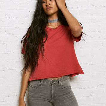 Don't Ask Why Tie Back T-Shirt, Campus Red