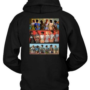 CREYH9S Pink Floyd Art All Of Allbums In Back Hoodie Two Sided