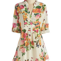 ModCloth 3 Back Road Ramble Tunic in Morning Garden