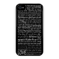 The Beatles Song Lyric iPhone 4/4S Case