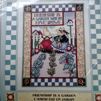Friendship is a Garden Counted Cross Stitch Kit Nina Shaffer Leisure Arts