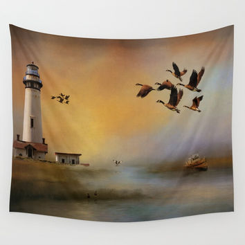 Homeward Bound Wall Tapestry by Theresa Campbell D'August Art