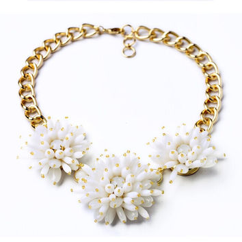 Frosted Youth Statement Necklace