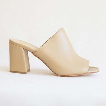 Maryam Nassir Zadeh Penelope Mule in Camel Calf at General Store