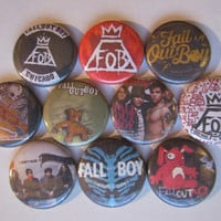 Fall Out Boy FOB Rock Band Music Pinback Button Badge Pin (pack of 10)