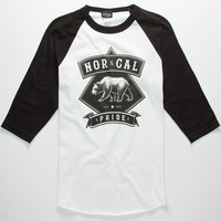 Nor Cal Pride Mens Baseball Tee White  In Sizes