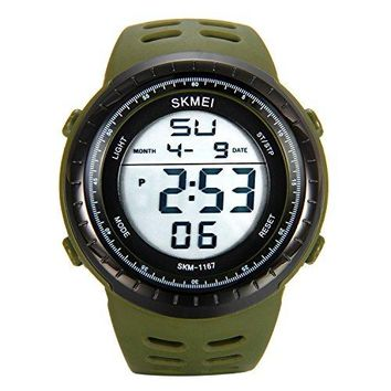 JewelryWe Students Outdoor Watches Alarm 50M Waterproof Trendy Large Dial Multifunctional Sports Digital Watch for Teenagers Boys