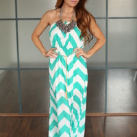 Splendid Pieces of Chevron Tie Maxi Green