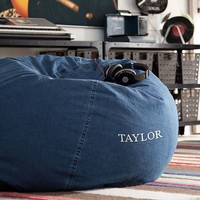 Enzyme Washed Denim Beanbag