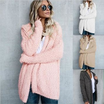 Outerwear womens overcoat trending products winter Faux Fur Coat Jacket casual cardigan plus size women clothing