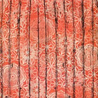 Floral Orange Wood Pattern Backdrop - 7207