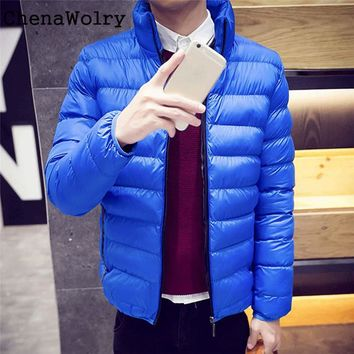 Casual 2017 Hot Sales Attractive Men Winter Warm Slim Fit Thick Bubble Coat Fashion Jacket Parka Outerwear  Dec 19