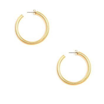 Chunky Matte Hoop Earrings/S