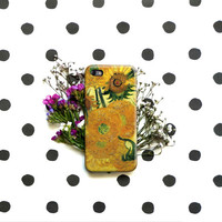 Sunflowers - Van Gogh iPhone Case 6, 6S, 6 Plus, 4S, 5S. Mobile Phone Sony HTC LG. Art Painting. Gift Idea Anniversary. Gift for him and her