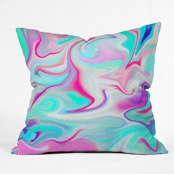 Jacqueline Maldonado Liquid 3 Outdoor Throw Pillow