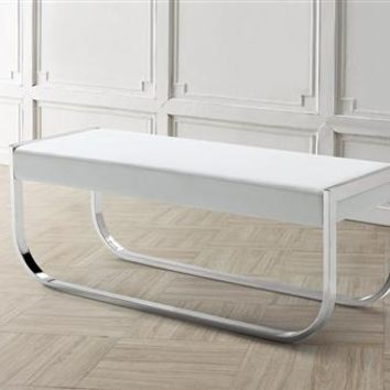 Casabianca Home BELLAGIO CB-3001-WH-BENCH Bench White Eco Leather