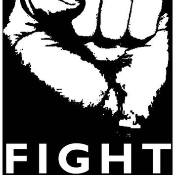 Fight Commonism Fist Political Poster 11x17