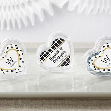 Heart Favor Container - Modern Classic (Set of 12) (Available Personalized)
