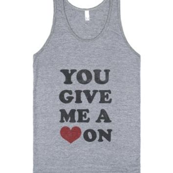 You Give Me a Hard On (new)-Unisex Athletic Grey Tank