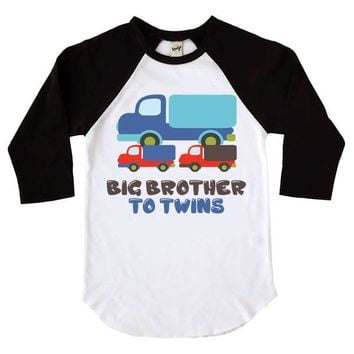 Big Brother To Twins Kids Raglan Shirt