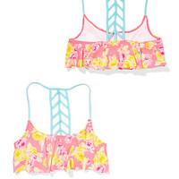 Ladder-back Flounce Top - PINK - Victoria's Secret