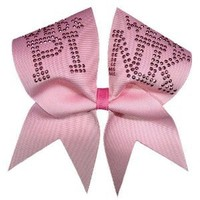Chosen Bows On Wednesdays We Wear Pink Cheer Bow, Pink