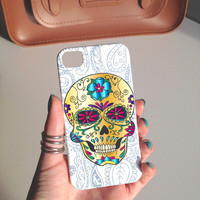 Candy Sugar Skull Hard Phone Case iPhone 3 3GS 4 4S 5 5S 5C Samsung Galaxy S2 S3 S4 Mini S5 Sony Xperia Z Blackberry Z10 Curve Bold HTC