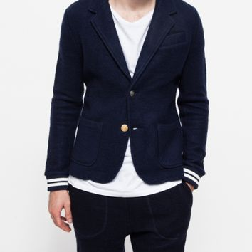 Band of Outsiders Felted Fleece Mix Blazer