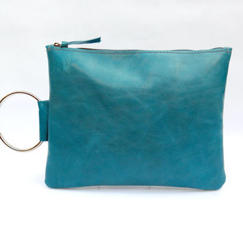 Turquoise Small Ring Tote Bag 119