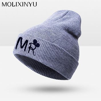 New Fashion Winter Warm Baby Hats Baby Cap For Children Winter Knitted Hat Kids Brand Boy Girls Hat Casquette Drop Shipping