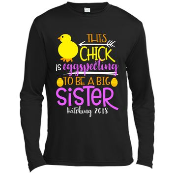Funny Easter Pregnancy Announcement T Shirt Big Sister Long Sleeve Moisture Absorbing Shirt