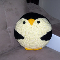 penguin pillow , ready to ship the finished product