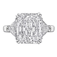 Graff 5.02 Carat GIA Cert Radiant-Cut Diamond Platinum Engagement Ring